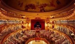 惊叹!100岁的剧院改造成了辉煌的书店